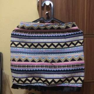 rok tribal bohemian skirt span