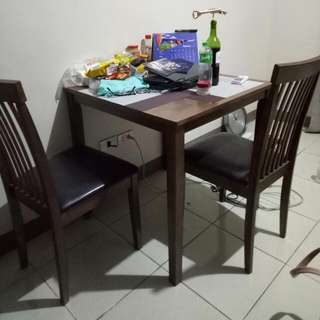 Table 2 Seater 29x29 Inches  Not Mdf But I Dunno What Type Of Wood
