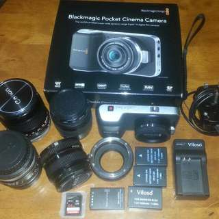 Blackmagic Pocket Cinema Camera Bmpcc & Extra