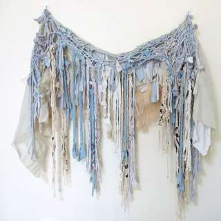 Upcycled Hanging Fabric Wall Art