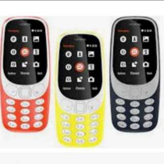 NK 3310 (Red/Yellow/Black) Local Nokia 1 Year Warranty