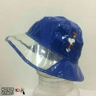 Snoopy polyester water proof bucket hat topi budak