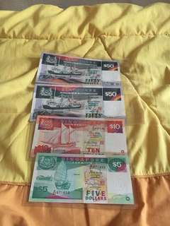 Singapore Notes old banknote