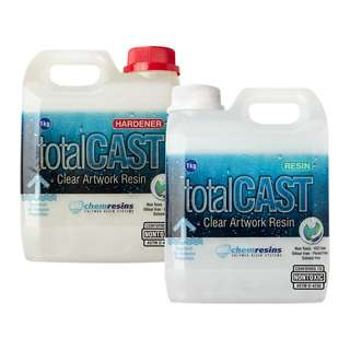 Non-toxic resin - totalCAST Clear casting resin supplies for craft use (2KG)