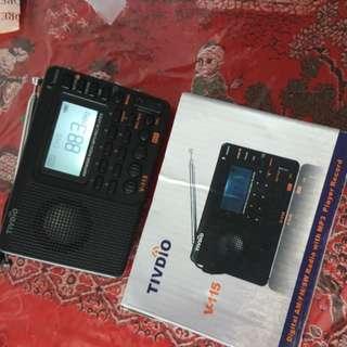 TIVDIO V-115 Digital AM FM SW Radio MP3 Player Record