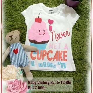 Kaos Anak Baby Victory Size 6-12 Bln