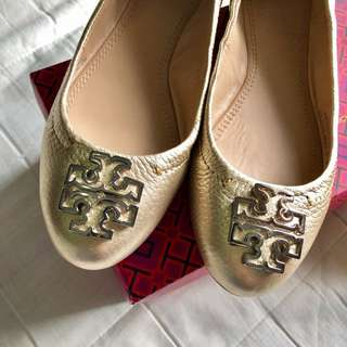 Tori Burch shoes, size 5M complete with box and dustbag