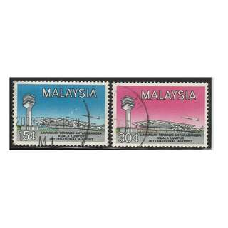 MALAYSIA 1965 Opening of Internatiional Airport set of 2V used SG #18-19 (A)