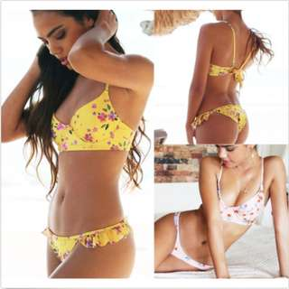 Summer Bathing Suit Floral Swimwear Bikini Set