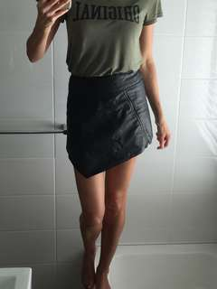 Neon Hart Leather skirt