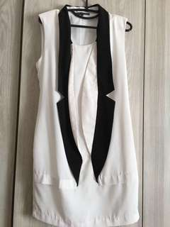 Sense Black & white dress