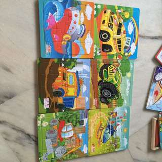 Set of puzzles, each with a story behind