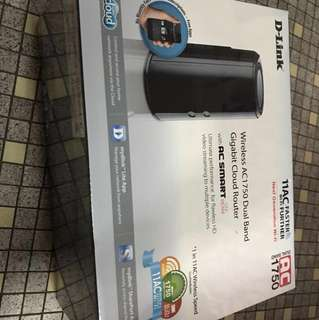 D-Link AC1750 wireless dual band cloud router