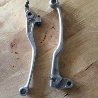 DRZ stock clutch and brake levers