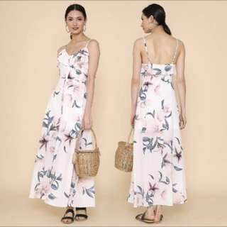 Supergurl Hannah Floral Maxi Dress (White)