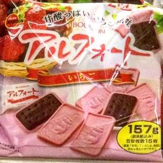 日本百邦 士多啤梨朱古力餅