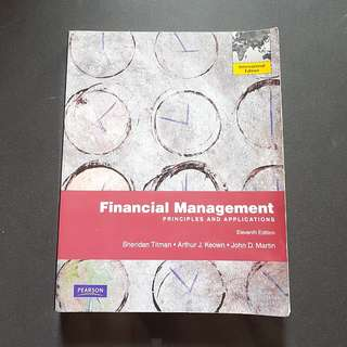 Financial Management Principles And Applications International Edition Textbook