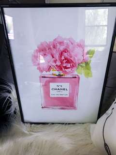 Brand new chanel Print is black A3 frame