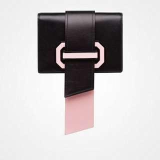 100% REAL & NEW全新 PRADA Plex Ribbon Bag真皮手袋側背袋(超筍價!)