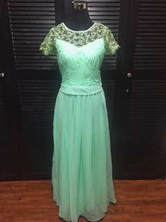 Bridesmaid Gown Mint Green