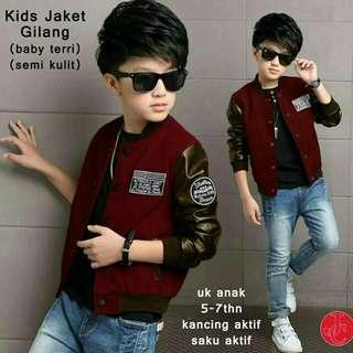 Jacket anak laki laki usia 5-7 th