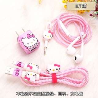 USB Earphone Data Line Protector Cable Winder Cord Character