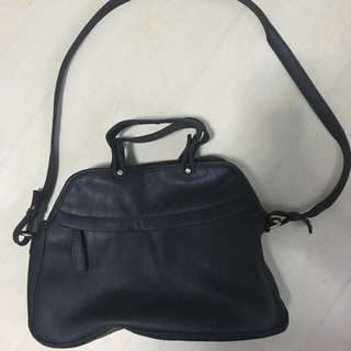 Never been used black leather bag