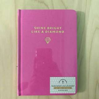 The Paper Bunny Pink Fabric Notebook (Blank)