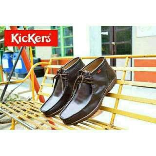 Sepatu pria kickers semi boots zapato kulit