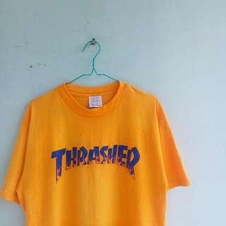 Vintage THRASHER Tees Gold / Yellow ( RARE )