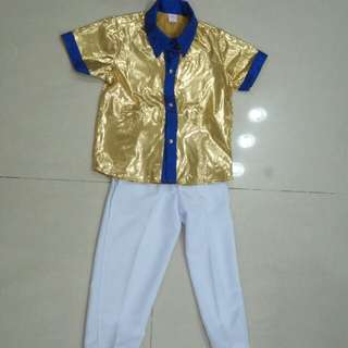 Gold Shining Boy Costume