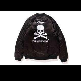 a bathing ape bape mmj mastermind 限量聯乘 ma 1 souvenir jacket