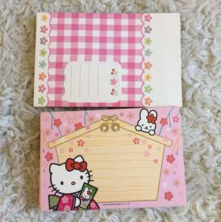 Hello kitty postcards and envelopes