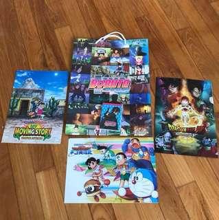Boruto the movie; Dragonball z; Doraemon n Crayon Shinchan Paper Bag, Files