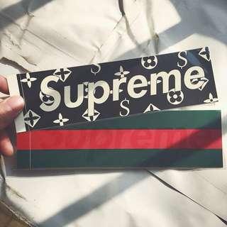 Supreme LV GUCCI sticker