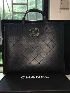 Chanel vintage Caviar leather.