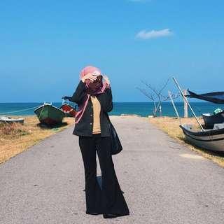 HijabistaHub Bell Bottom Pants