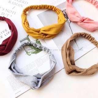 Minimalist knit headbands