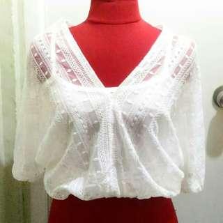 Korean lace top