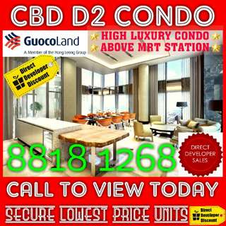 NEW LAUNCH ! TALLEST CBD Condo Beside MRT For SALE !!