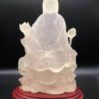 磨沙琉璃觀音雕塑