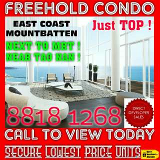 ☆☆ New FREEHOLD East Coast Residence Condo Beside MRT and Just TOP on Starbuy OFFER !! ☆☆