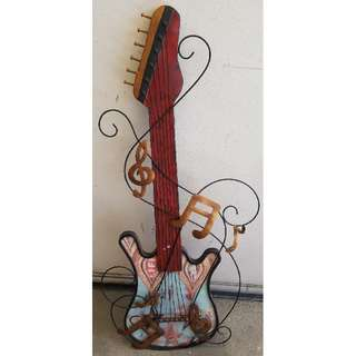 Guitar wall display vintage