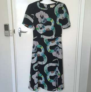 Miranda Skoczek SZ 6 Mad Snake midi dress
