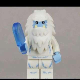 Lego 71002 Series 11 Minifigs Yeti  雪人 連底板 說明書 包裝袋 (全新開袋確認)