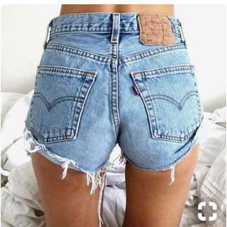Vintage levi's strauss denim short