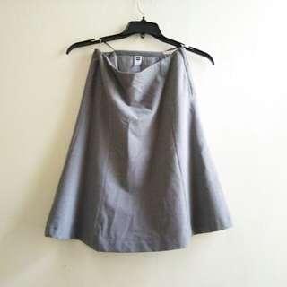 GAP gray office skirt
