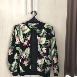 Zalora Tropical Bomber Jacket