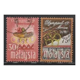 MALAYSIA 1968 Olympic Games, Mexico set of 2V used SG #54-55