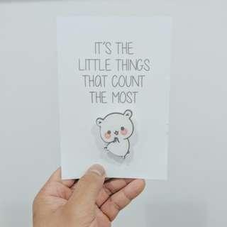 Hamster Pin with Mini Card